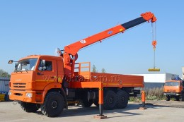 КАМАЗ 43118 с КМУ Kanglim KS1256G-II