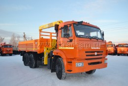 КАМАЗ 65115 с КМУ Soosan SCS513