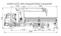 КАМАЗ 65115 с КМУ Kanglim KS1256G-II