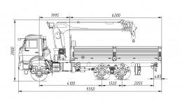 Камаз 65111 с КМУ Инман ИТ-150