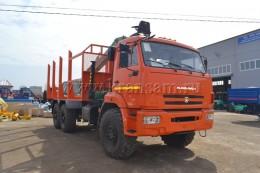 Сортиментовоз КАМАЗ 43118 с гидроманипулятором ОМТЛ-97(ВЕЛМАШ) за кабиной