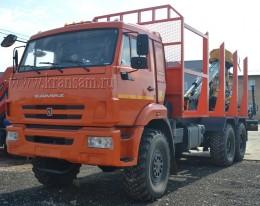 Сортиментовоз КАМАЗ 43118-46 с гидроманипулятором ОМТЛ-97(ВЕЛМАШ) на заднем свесе