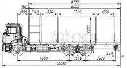 Сортиментовоз КАМАЗ-6520