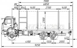 Сортиментовоз КАМАЗ-65111
