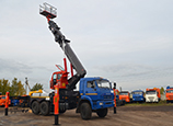 Автогидроподъемник Hansin HS4570 КАМАЗ 43118