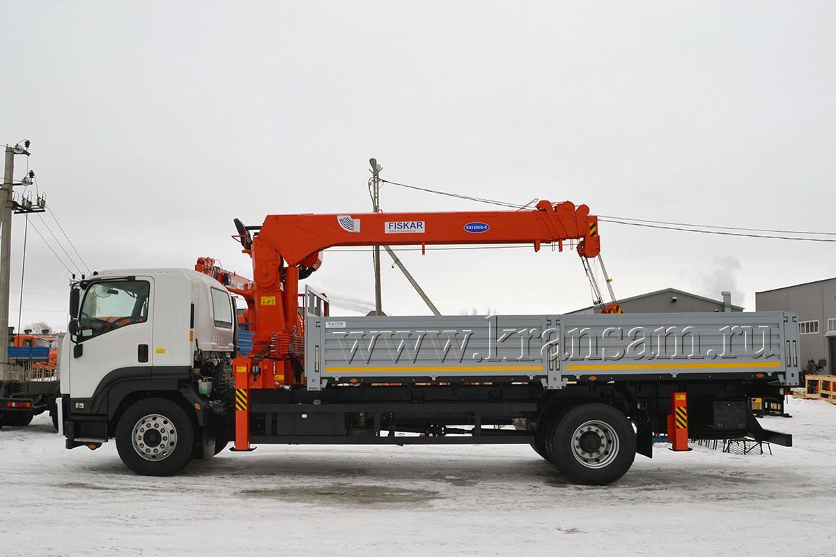 Крано-манипуляторная установка Kanglim KS1256G-II на шасси автомобиля ISUZU FORWARD 18.0