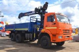 КАМАЗ-65111 (6х6) с КМУ (Модель 732326 Fiskran)