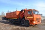 Автомобиль самосвал КАМАЗ-65115 с КМУ (Модель 732332 Fiskran)