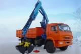 Автомобиль самосвал КАМАЗ-43118 с КМУ (Модель 732413 Fiskran)