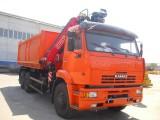 Автомобиль самосвал КАМАЗ-6520 с КМУ (Модель 732338 Fiskran)