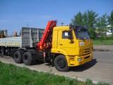 Седельный тягач КАМАЗ-65116 с КМУ (Модель 732315 Fiskran)