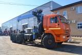 Седельный тягач КАМАЗ-43118 с КМУ (Модель 732413/732409 Fiskran)