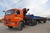 Седельный тягач КАМАЗ-43118 с КМУ цена [city()] | КАМАЗ-43118 с кран-манипулятором цена [city()] | Завод СПМ