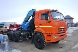 Седельный тягач КАМАЗ-53504 с КМУ (Модель 732414 Fiskran)