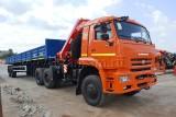 Седельный тягач КАМАЗ-65225 с КМУ (Модель 732360 Fiskran)